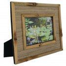 "Hand-crafted Natural Bamboo Mendong Picture Frame Two-ways (4""×6"" or 6""x4"") With Stand"