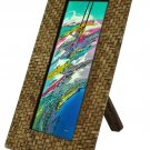 "Hand-crafted Natural Weave Picture Frame Two-ways (3.54""x9.6"" or 9.6""x3.54"") With Stand"