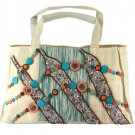 Sinamay Native Tote Bag with Quirky Beadings