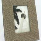 "Hand-crafted Natural Cocostick Brown Picture Frame Two-ways (4""x6"" or 6""x4"") With Stand"