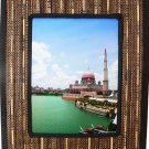 "Hand-crafted Natural Cocostick Brown Picture Frame Two-ways (6""x8"" or 8""x6"") with Stand"