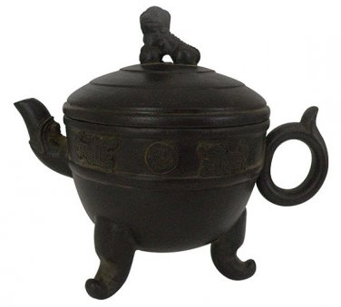 Vintage Hand-crafted Oriental Yixing Clay Teapot - Imperial Guardian Lion (16 oz)