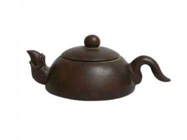 Vintage Hand-crafted Oriental Yixing Clay Teapot - Zen Minimalist (7 oz)