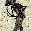 Original Batik Art Painting on Cotton Fabric, 'Wayang Kulit' By Khairy (45cm X 75cm)