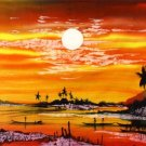 Original Batik Art Painting on Cotton Fabric, 'Scenery' Special Edition By Musa (90cm X 75cm)