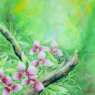 Original Batik Art Painting on Cotton Fabric, 'Flower' Special Edition By Musa (75cm X 90cm)