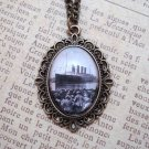 Titanic Inspired Vintage Pendant Necklace (Brass, 18 inches)