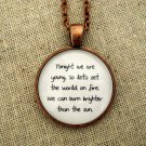 Fun We Are Young Inspired Lyrical Quote Necklace (Copper, 18 inches)