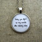 One Direction What Makes You Beautiful Inspired Lyrical Quote Necklace (Silver, 18 inches)