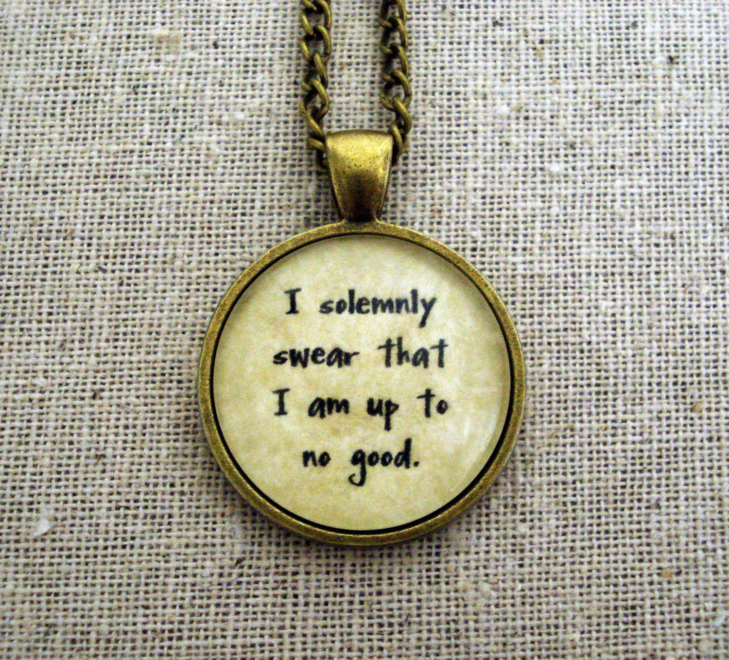 Harry Potter Inspired I Solemnly Swear That I Am Up To No Good Necklace