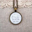 Phillip Phillips Home Inspired Lyrical Quote Pendant Necklace (Brass, 18 inches)