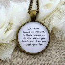 Mumford and Sons Inspired Lyrical Quote Necklace Where You Invest Your Love (Brass, 18 inches)