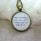 Unless Pendant Necklace (Brass, 18 inches)