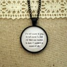Florence and the Machine Falling Inspired Lyrical Quote Necklace (Black, 18 inches)