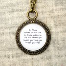 Mumford and Sons Awake My Soul Inspired Lyrical Quote Necklace (Brass, 18 inches)