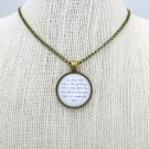 Mumford and Sons After The Storm Inspired Lyrical Quote Necklace (Brass, 18 inches)