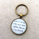Of All The Walks We've Taken Together Keychain (Bride Father Wedding Gift Brass)
