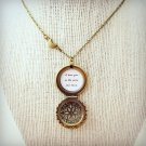 I Love You To The Moon and Back Brass Locket with Moon Charm (18 inches, gift)