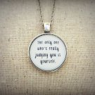 Tame Impala Alter Ego Inspired Lyrical Quote Pendant Necklace (Silver, 18 inches)