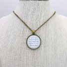 Edwin Mccain I'll Be Inspired Lyrical Quote Pendant Necklace (Brass, 18 inches)