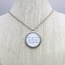 Mumford and Sons Inspired Lyrical Quote Necklace Awake My Soul (Silver, 18 in)
