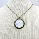 Florence and The Machine Between Two Lungs Inspired Lyrical Quote Necklace (Brass, 18 inches)