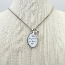 Edwin Mccain I'll Be Inspired Lyrical Quote Necklace with Heart Charm (Silver, 18 inches)