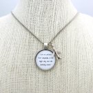 B.O.B Airplanes Inspired Lyrical Quote Pendant Necklace (Silver, 18 inches, Bob))