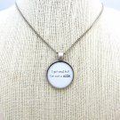 The Killers I Got Soul Inspired Lyrical Quote Necklace (Silver, 18 inches)