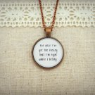 FUN Why Am I The One Inspired Lyrical Quote Necklace (Copper, 18 inches, F.U.N.)