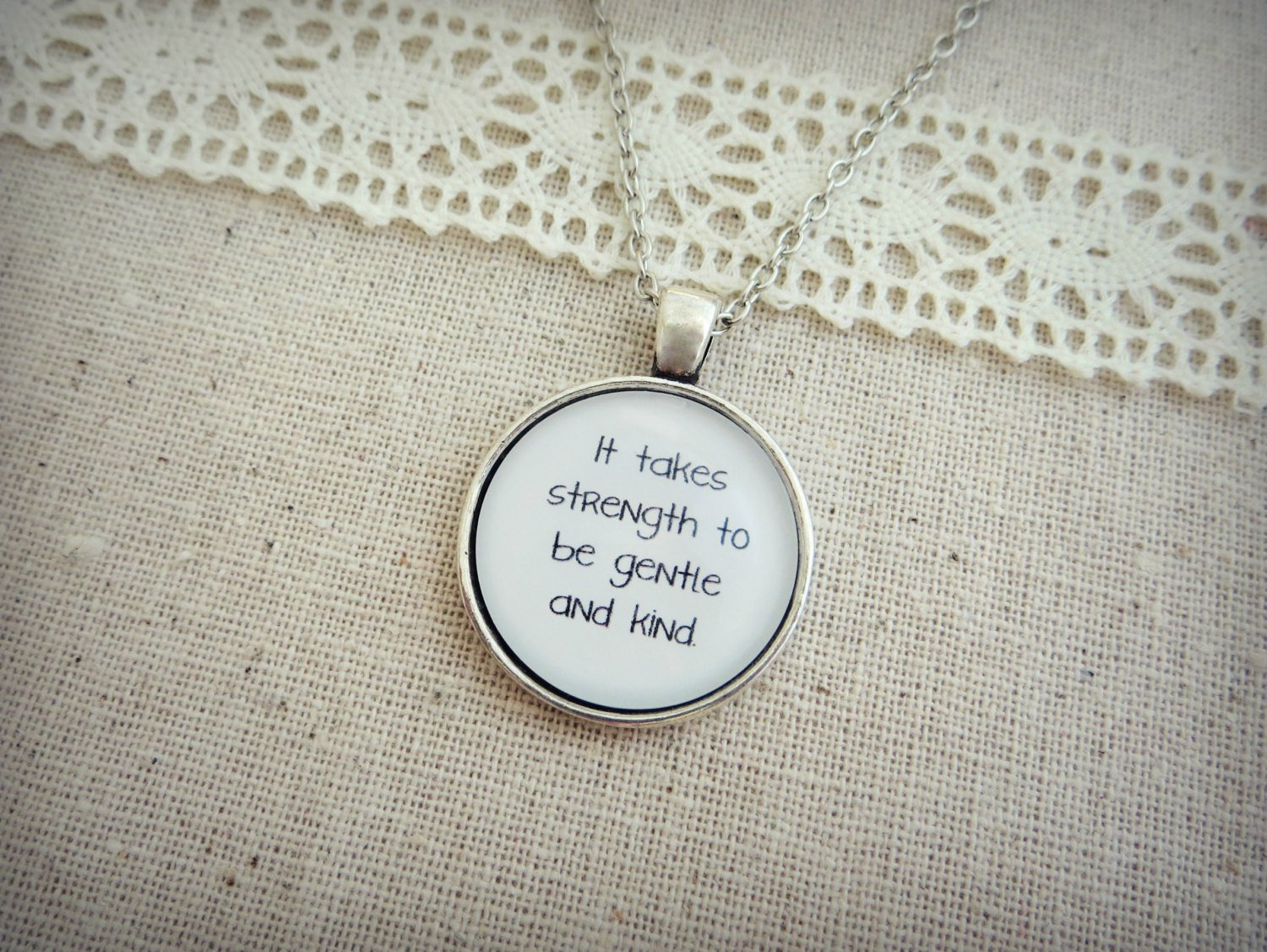 The Smiths I Know It's Over Inspired Lyrical Quote Necklace (Silver, 18 inches)