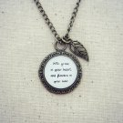Mumford and Sons After The Storm Inspired Lyrical Quote Pendant Necklace (Brass, 18 inches)