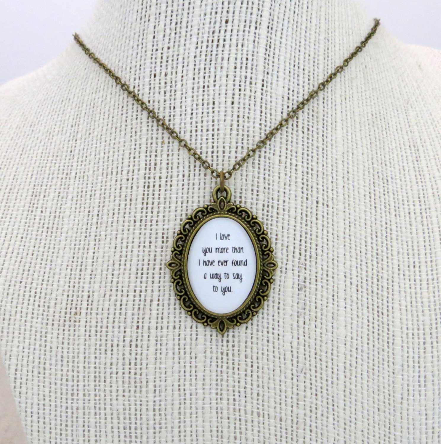Ben Folds The Luckiest Inspired Lyrical Quote Pendant Necklace (Brass, 18 inches, Five)