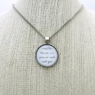 Lana Del Rey Video Games Inspired Lyrical Quote Necklace (Silver, 18 inches)