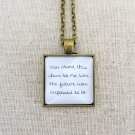 Vampire Weekend Taxi Cab Inspired Lyrical Quote Pendant Necklace (Brass, 18 inches)