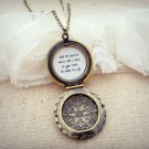 Florence and the Machine Shake It Out Inspired Lyrical Quote Locket (Brass, 18 inches)