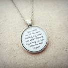 M83 Reunion Inspired Lyrical Quote Pendant Necklace (Silver, 18 inches)
