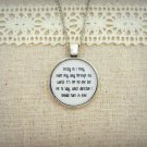 Dave Matthews Band Captain Inspired Lyrical Quote Pendant Necklace (Silver, 18 inches)