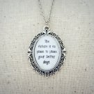 Dave Matthews Band Cry Freedom Inspired Lyrical Quote Pendant Necklace (Silver, 18 inches)
