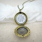 Mumford & Sons Hold On To What You Believe Inspired Quote Brass Locket Necklace (18 inches)