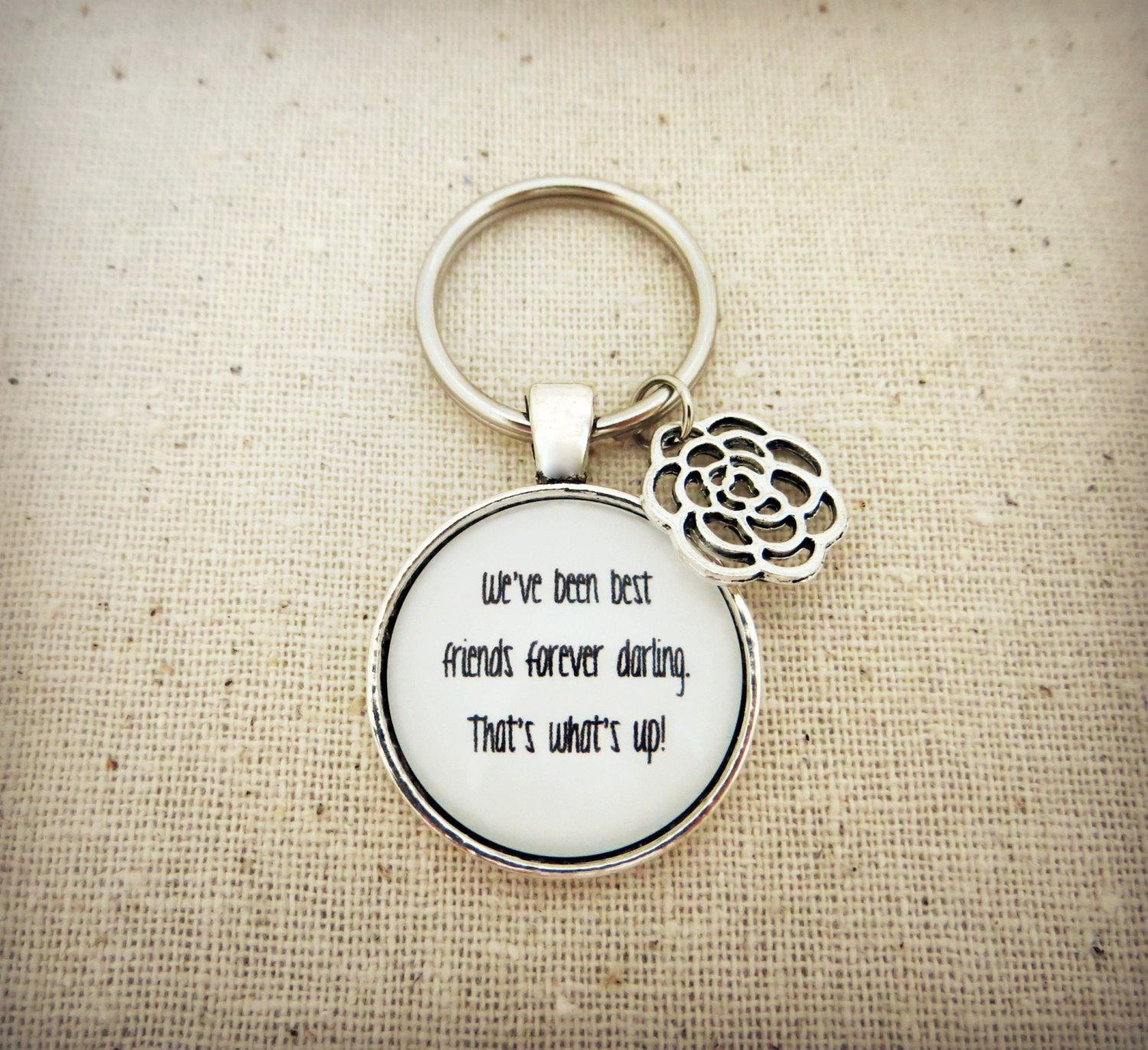 Edward Sharpe That's What's Up Inspired Lyrical Quote Keychain With Flower Charm