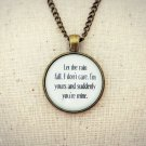 Aqualung Brighter Than Sunshine Inspired Lyrical Quote Pendant Necklace (Brass)