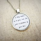 Macy Gray I Try Inspired Lyrical Quote Pendant Necklace Free Love (Silver 18 inches)