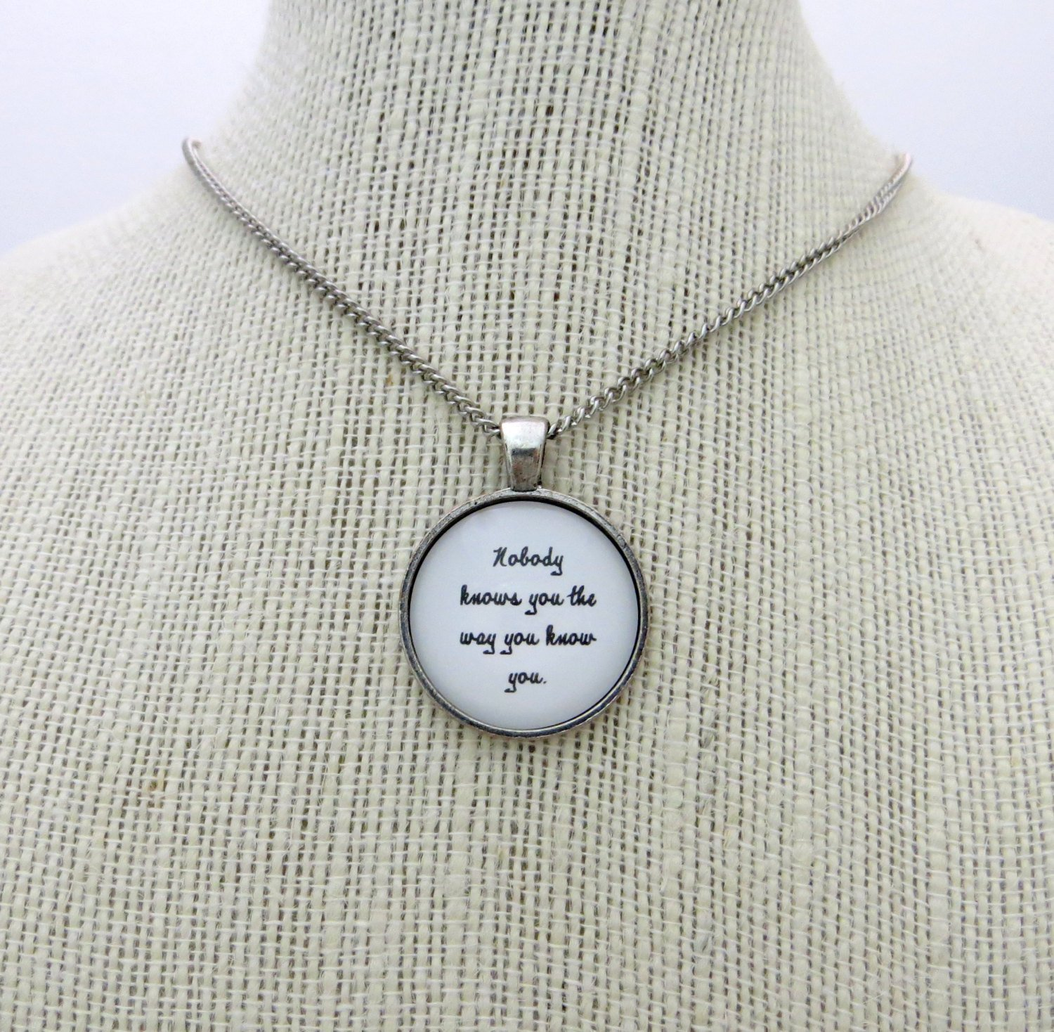Passion Pit Seaweed Song Inspired Lyrical Quote Pendant Necklace (Silver, 18 inches)