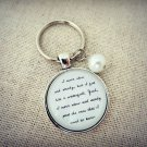 Of Monsters and Men Slow and Steady Inspired Lyrical Quote Keychain (Silver)