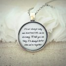 Jack Johnson Better Together Inspired Lyrical Quote Pendant Necklace (Silver, 18 inches)