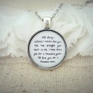 Christina Perri A Thousand Years Inspired Lyrical Quote Pendant Necklace (Silver 18 inches)