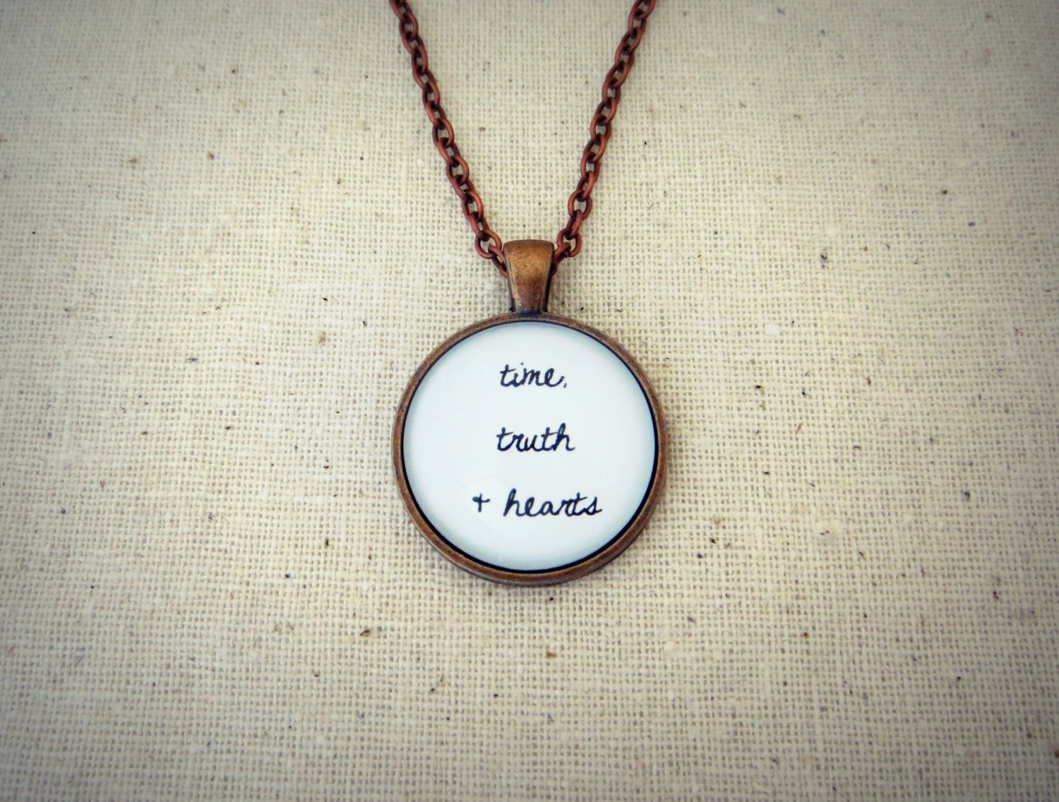 The Killers All These Things That I've Done Inspired Lyrical Quote Necklace (Copper)