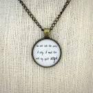 Mumford and Sons Lover's Eyes Inspired Lyrical Quote Pendant Necklace (Brass, 18 in)