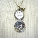 Florence and the Machine Shake It Out Inspired Brass Locket Necklace Bird Charm (18 inches)
